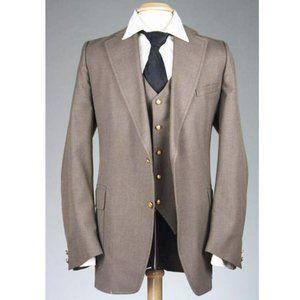 Vtg 70s MOD Saxony Hall 2-piece Jacket/Vest Combo